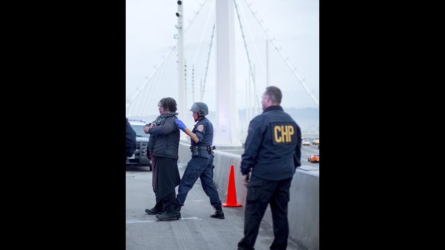 MLK Day protesters block 1 span of SF-Oakland Bay Bridge