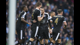 Leicester stuns Man City 3-1 to go 6 points clear at top