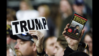 The Latest: Trump rejoining rivals for final NH debate