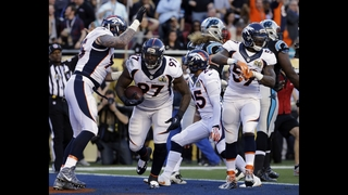 Broncos take 13-7 halftime lead over Panthers in Super Bowl