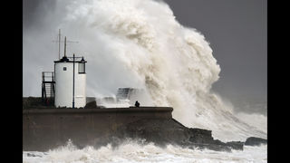 Storm Imogen lashes Britain with wind, huge waves