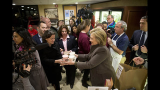 Clinton making a personal pitch to New Hampshire voters
