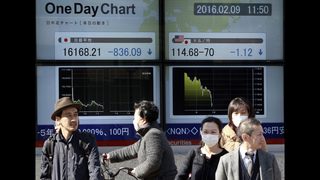 Asia stocks extend global sell-off, Japan down 5.5 percent
