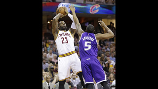 James, Irving lead Cavaliers past Kings 120-100