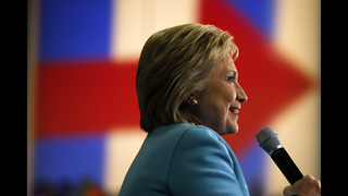 The Latest: Clinton his the ground early on NH primary day