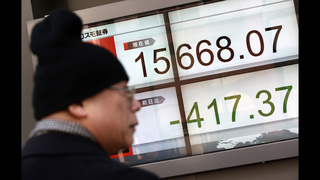 Asia stocks down for 3rd day, Japan drops 3.8 percent