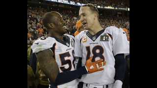 Broncos revel in parade amid questions about Manning, Miller
