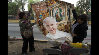 The Latest: Pope greets faithful on 1st full day in Mexico