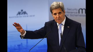Kerry takes aim at Russia over Ukraine and Syria