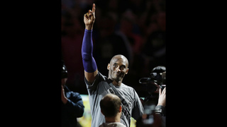 The Latest: Kobe gets a set of Jordans as a retirement gift