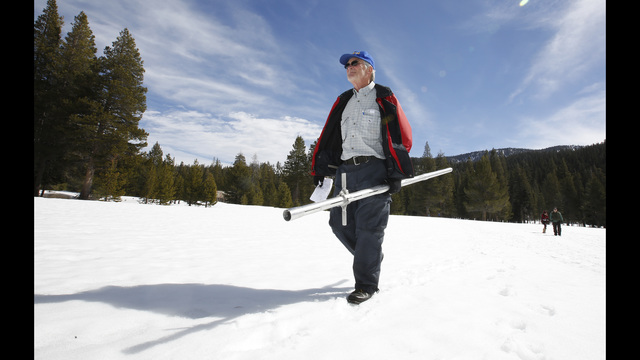 Dry spell shrank snowpack in parched California