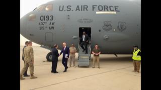 The Latest: Biden leaves Iraq, next stop Rome