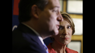 The Latest: Fiorina says Trump prematurely claiming victory
