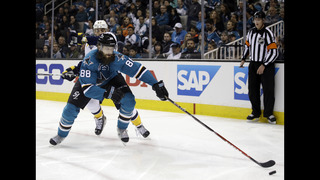 Joel Ward leads Sharks past Predators 5-2 in Game 1