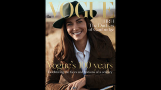 Cover star: Duchess Kate poses for British edition of Vogue