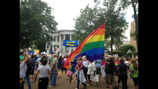 LGBT rights protesters vow to keep fighting Mississippi law