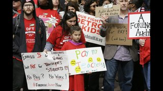 Detroit teachers ending 2-day sick-out, fighting legislation