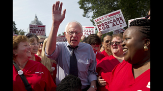 Fired up by Sanders, Democrats shift left on health care
