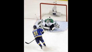 Cody Eakin scores in OT, Stars beat Blues 3-2 to tie series