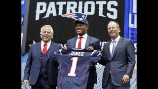 Patriots top draft pick Jones hits the ground running