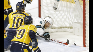 Series tied 2-2 as Predators beat Sharks 4-3 in triple OT