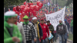 Belgian protesters clash at anti-government demonstration
