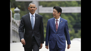 The Latest: G-7 leaders arrive at Japan