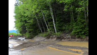 Mudslide slogs travel on key route in Glacier National Park