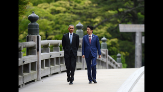 Obama defends his nuclear record on eve of Hiroshima visit