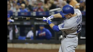Utley answers with slam, solo HR as Dodgers rout Mets 9-1