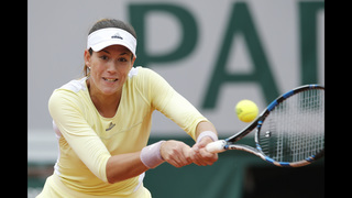 The Latest: Muguruza into French quarters for 3rd year
