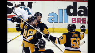 Penguins edge Sharks 3-2 in Game 1 of Stanley Cup Final