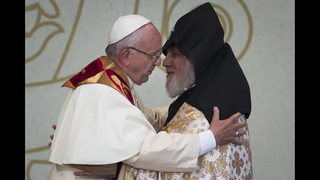 Pope nears Armenia