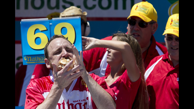 National Hot Dog Eating Contest Record