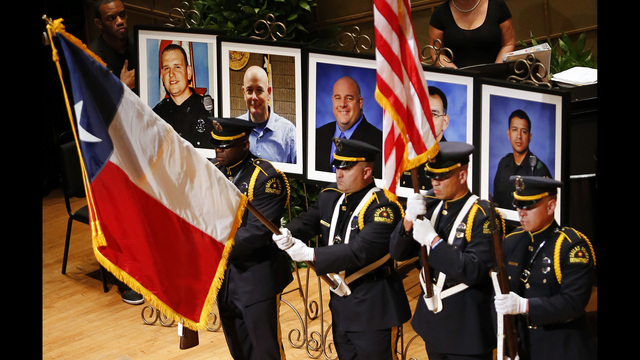 Funerals today for 3 of 5 slain Dallas police officers