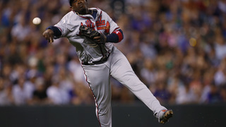 Teheran leaves start with injury, Braves lose 4-3 to Rockies