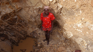 Elderly women risk lives crushing rock for money in Cameroon