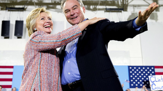 Clinton says veep pick Kaine is everything GOP ticket isn