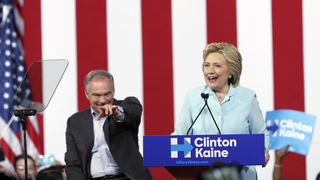 Tim Kaine gets warm welcome from neighbors