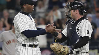 AP source: Yanks discussing deal to send Chapman to Cubs
