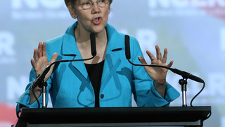 The Latest: Warren says Trump offers no answers to problems