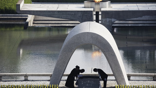 Hiroshima unhappy atomic-bomb park is
