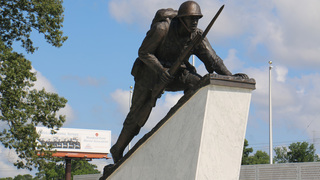 Memorial to 1st black Marines dedicated at Camp Lejeune