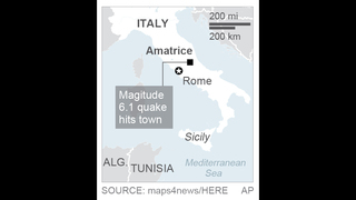 Strong quake rattles central Italy: The town isn
