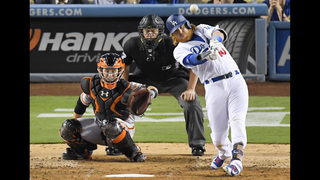 Hill solid, Turner homers and Dodgers beat Giants 1-0