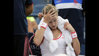 Concussion-related lawsuit pending, Bouchard out at US Open
