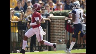 No. 1 Alabama rolls Kent State 48-0, loses Harris to injury
