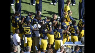 College players join protests, raise fists for anthems