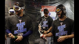 AL West champ Rangers celebrate, plan for another playoffs