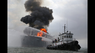 Fuel tanker continues to burn off Mexico